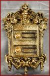 Historische 2 fach Klingel Klingelplatte m. Namensschilder