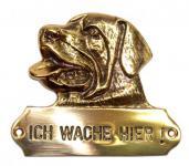 Warnschild Rottweiler Hundekopf