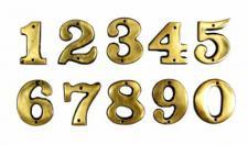 Hausnummer Zimmernummer Zahl Ziffer Messing