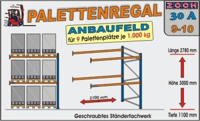 Palettenregal Regal Schwerlastregal 30A9-10 1