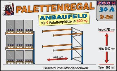 Palettenregal Regal Schwerlastregal 30A9-80