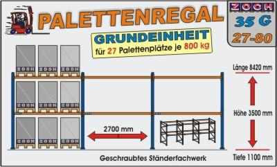 Palettenregal Regal Schwerlastregal 35G27-80