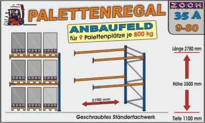 Palettenregal Regal Schwerlastregal 35A9-80