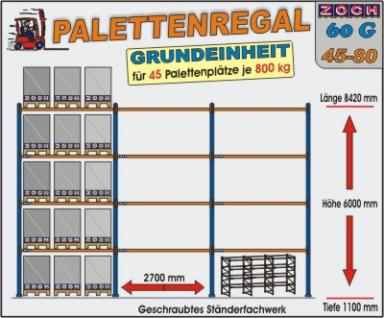 Palettenregal Regal Schwerlastregal 60G45-80