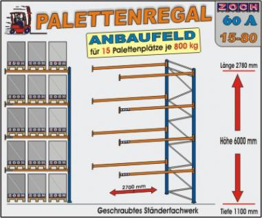 Palettenregal Regal Schwerlastregal 60A15-80
