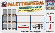 Palettenregal Regal Schwerlastregal 30G27-80