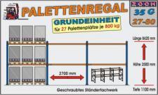 Palettenregal Regal Schwerlastregal 35G27-80