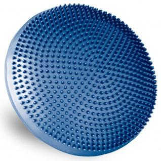 MAXXIVA Ballsitzkissen blau 33 cm mit Pumpe Luft-Kissen mit Noppen Fitness
