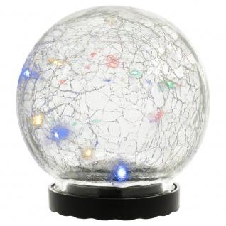 Solarleuchte mit Glaskugel 10 LED mehrfarbig Solarlampe 11 cm