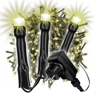 500 LED Büschellichterkette warm weiß Cluster light Lichterkette Trafo Timer