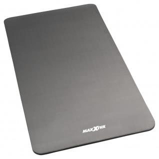 MAXXIVA Yogamatte grau Gymnastikmatte Fitnessmatte 190x100x1, 5 cm extragroß