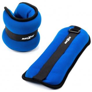 MAXXIVA Laufgewicht Set Blau 2 x 1, 0 kg Arme Beine Gewichtsmanschetten
