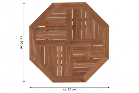 DIVERO Balkontisch Gartentisch Tisch Holz Teak klappbar behandelt Ø 90cm - Vorschau 3