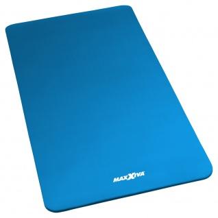MAXXIVA Yogamatte Gymnastikmatte Fitnessmatte 190x100x1, 5 cm blau schadstofffrei