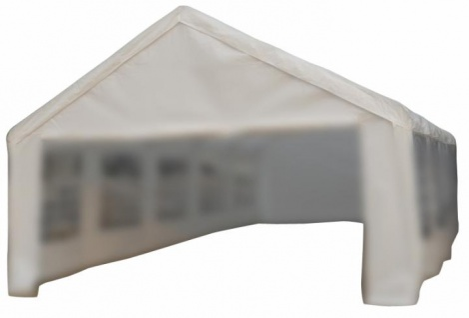 Ersatzdach Dachplane für Partyzelt Pavillon Zelt Festzelt PE 5 x 10m weiß