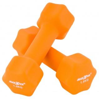MAXXIVA Hantelset orange Neopren 2 x 1, 5 kg Kurzhanteln Krafttraining Fitness