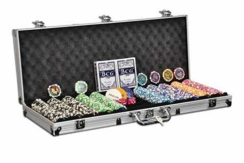 Pokerkoffer 500 Pokerchips abgerundet OCEAN CHAMPION CHIP Pokerset