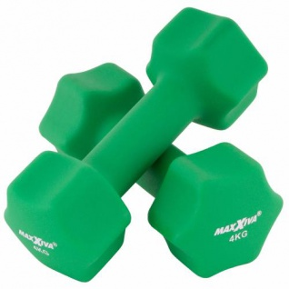 MAXXIVA Hantelset grün Neopren 2 x 4 kg Kurzhanteln Krafttraining Fitness