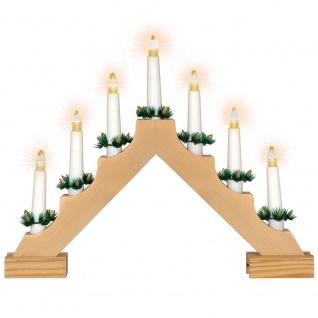 Schwibbogen Lichterbogen 7 LED warm weiß Batterie Timer Weihnachtsdeko