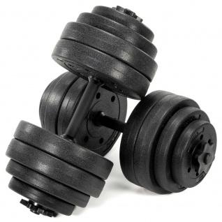 MAXXIVA Kurzhantel-Set Zement 2x15kg 16 Gewichte schwarz Sternverschlüsse