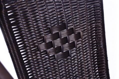 Bistroset Balkonset dunkelbraun Sitzgarnitur Klapptisch + Bistrostuhl Polyrattan - Vorschau 4