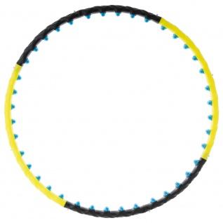 MAXXIVA Hula Hoop Reifen schwarz gelb 108 cm Erwachsene Massage Fitness