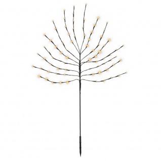 Dekobaum 80 LED warmweiß Leuchtbaum Lichtbaum Batterie Timer 110 cm