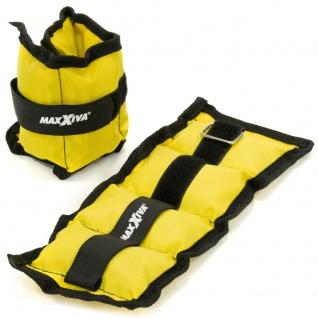 MAXXIVA Gewichtsmanschetten Set 2 x 0, 5 kg Laufgewichte Gelb Arm Bein