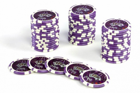 50 Poker-Chips Wert 500 Laserchip 12g Metallkern OCEAN-CHAMPION-CHIP abgerundet
