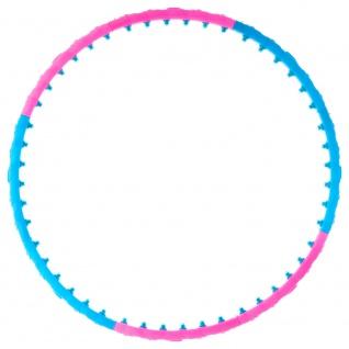 MAXXIVA Hula Hoop Reifen Blau Pink Ø 100 cm Erwachsene Fitness 48 Magnete