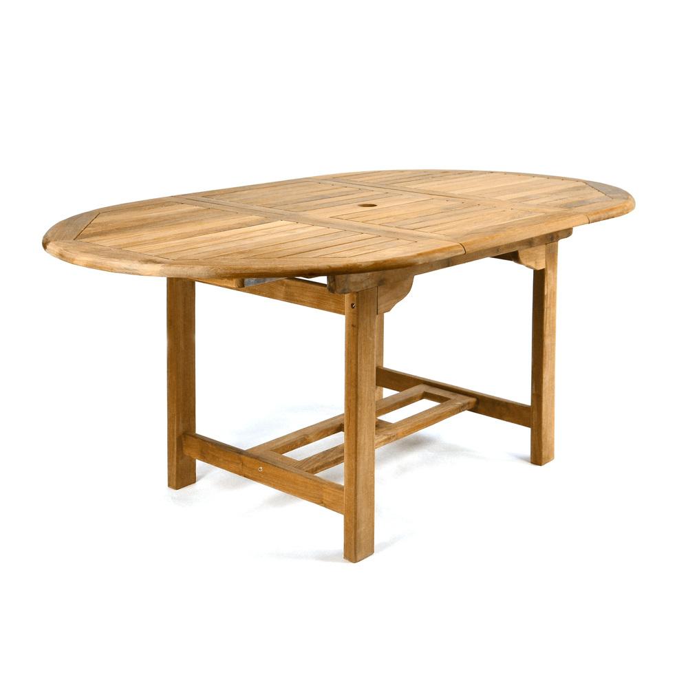 Divero Gartentisch Esstisch Tisch Ausziehbar 170cm Teak Holz