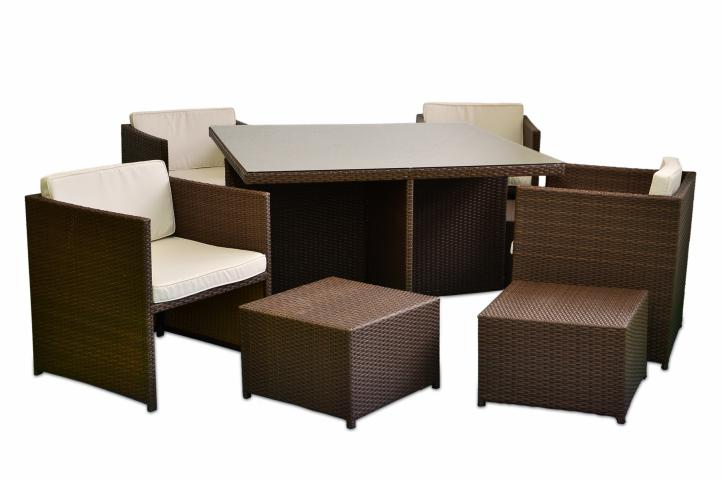 18tlg poly rattan sitzgruppe gartenm bel set garnitur lounge braun rattangarnitur terrassenm bel. Black Bedroom Furniture Sets. Home Design Ideas