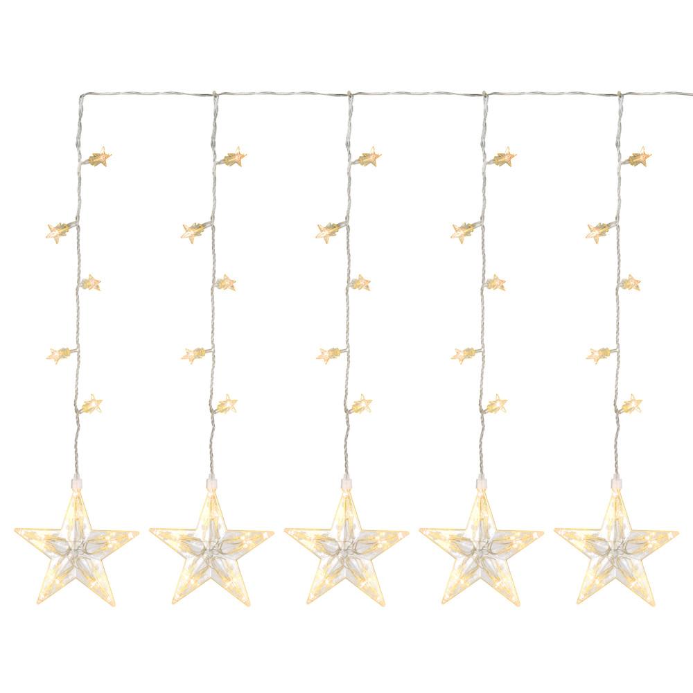Weihnachtsbeleuchtung Lichterketten Led.100 Led Sternenvorhang Lichterkette Warm Weiß Sterne Trafo Weihnachtsbeleuchtung