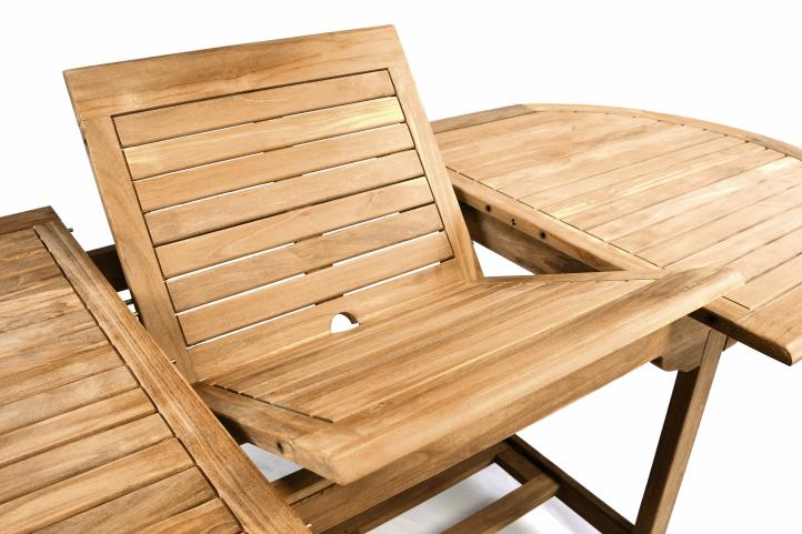 divero tisch teak gartentisch holztisch holz 170 230 cm massiv ausziehbar oval behandelt. Black Bedroom Furniture Sets. Home Design Ideas