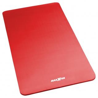 MAXXIVA Yogamatte Gymnastikmatte Fitnessmatte 190x100x1, 5 cm rot schadstofffrei
