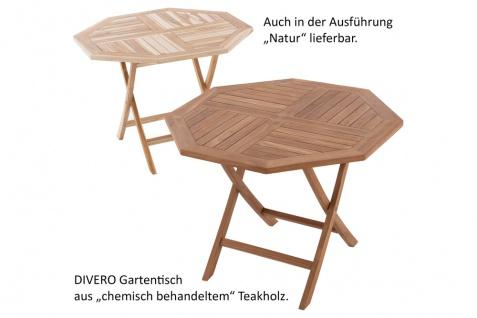 DIVERO Balkontisch Gartentisch Tisch Holz Teak klappbar behandelt Ø 90cm - Vorschau 4
