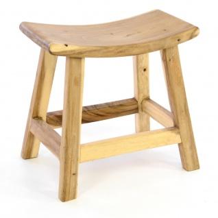 DIVERO Hocker B-WARE aus Suar Holz Holzhocker Sitzhocker massiv unbehandelt