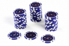 50 Poker-Chips Wert 10 Laserchip 12g Metallkern Poker-Laser- CHIP für Pokerkoffer