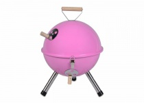 Mini BBQ-Grill Holzkohle Kugelgrill PINK