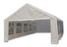 Hochwertiges Festzelt Partyzelt Bierzelt Gartenzelt Pavillon weiß 5x10 m PE wasserdicht PE 180 g/m²