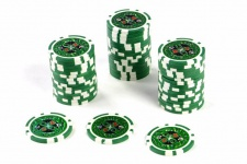 50 Poker-Chips Wert 25 Laserchip 12g Metallkern Poker-Laser- CHIP für Pokerkoffer