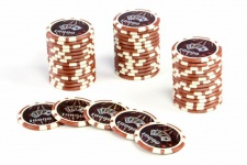 50 Poker-Chips Wert 10000 Laserchip 12g Metallkern OCEAN-CHAMPION-CHIP abgerundet