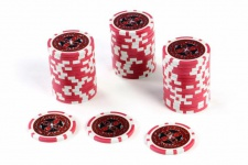 50 Poker-Chips Wert 5 Laserchip 12g Metallkern Poker-Laser- CHIP für Pokerkoffer