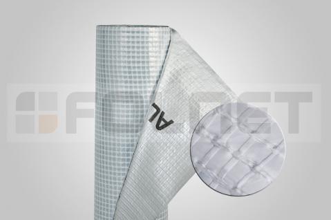 Energiesparende Luft- und Dampfsperre aus Aluminium / Strotex 150 AL / 75m²