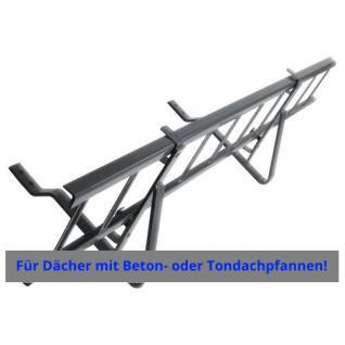 Komplettes Schneefanggitter für Dachpfannen bei Dachneigung von 25° bis 40° / Höhe 20cm - Vorschau 1