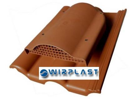 Flachlüfter mit Dachdurchführung für Braas - Tegalit Protegon Dachziegel