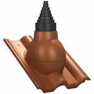 Antennendurchführung / Antennenaufsatz für Braas Taunus Dachziegel