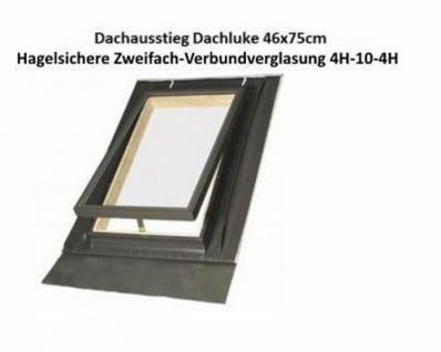 Dachausstiegsfenster Dachluke für Kalträume 46cm x 75cm / Doppelverglasung