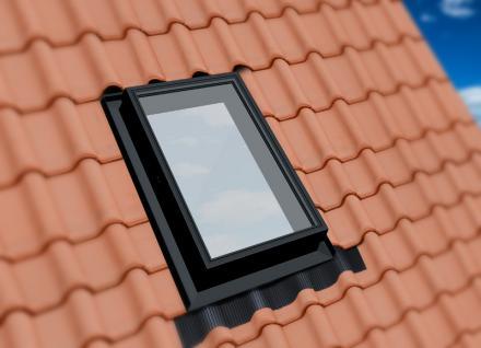 Ausstiegsfenster PVC Kunststoff Dachausstieg Öffnung 3 Seiten, Doppelverglasung!