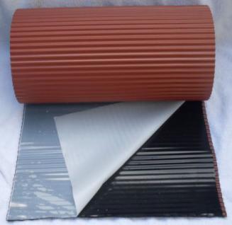 Wandanschluss Kaminanschluss / Alu plissiert / 300 mm x 5 m